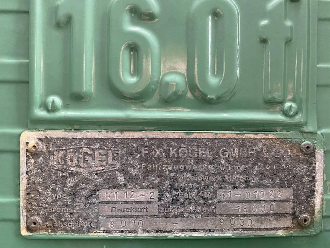 kipper aanhanger Kögel KL12-2  3 ZIJDGE KIPPER/TIPPER AANHANGER/TRAILER/ANHÄNGER 1974