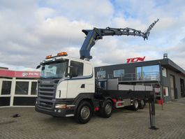 kraanwagen Scania R 420 8X2 PLATFORM FOR BOATS TRANSPORT / CONTAINER / PALFINGER 2006