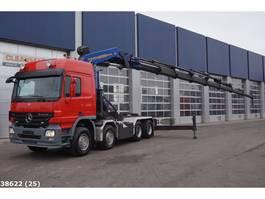 standaard trekker Mercedes-Benz Actros 4151 V8 8x4 Palfinger 100 ton/meter laadkraan 2009