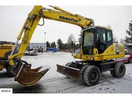 wielgraafmachine Komatsu PW160-7K w / rotor tilt & 1 bucket WATCH VIDEO 2006