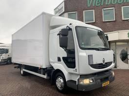 bakwagen vrachtwagen Renault MIDLUM 220DXI EURO5 SLAAPCABINE VANGMUIL EURO5 HOLLAND TRUCK 2013