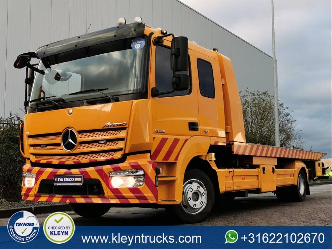 autotransporter vrachtwagen Mercedes-Benz Atego 1223 slider + tow bar 2015