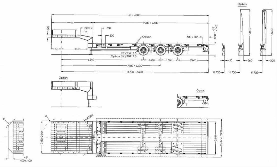 semi dieplader oplegger Faymonville 3-Achs-Tele-Semi mit hydraul. Rampen 2020