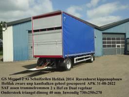 schuifzeil aanhanger GS AV-2000 2 As Schuifzeilen + Hefdak voor Kippentransport 2014