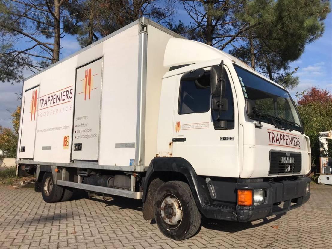 koelwagen vrachtwagen MAN 9.163  Koelwagen 1999