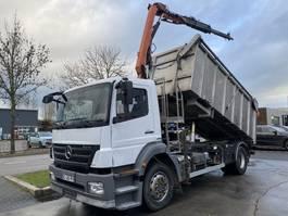 kipper vrachtwagen > 7.5 t Mercedes-Benz AXOR 1824 4X2 MANUAL EURO 4 + PALFINGER PK6500 MET REMOTE 2009