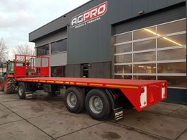 platte aanhanger vrachtwagen agpro 3 as BLADGEVEERD