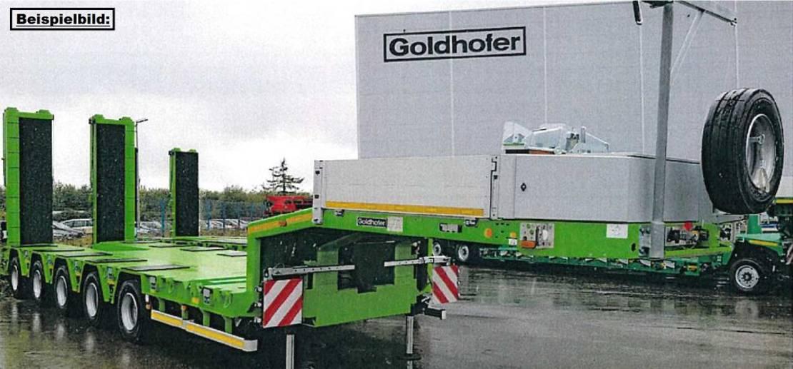 semi dieplader oplegger Goldhofer 5-Achs-Tele-Semi mit hydr. Rampen MPA 2021