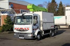 autohoogwerker vrachtwagen Renault Midlum 220 Bühne 182CPM 18m/2P.Korb/Werk.Koffer 2012