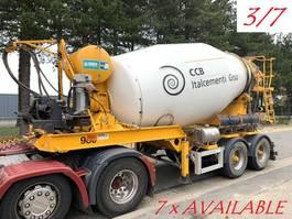 betonmixer oplegger MOL 7x  MOL (3/7) LT AUTOMIX AM 10m³ - BELGISCHE PAPIEREN / PAPIERS BELGES - 2 AS BPW - LUCHTVERING - IMER AUTOMIX 2009