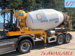 betonmixer oplegger MOL 7x  MOL (1/7) LT AUTOMIX AM 10m³ - BELGISCHE PAPIEREN / PAPIERS BELGES - 2 AS BPW - LUCHTVERING - IMER AUTOMIX 2009