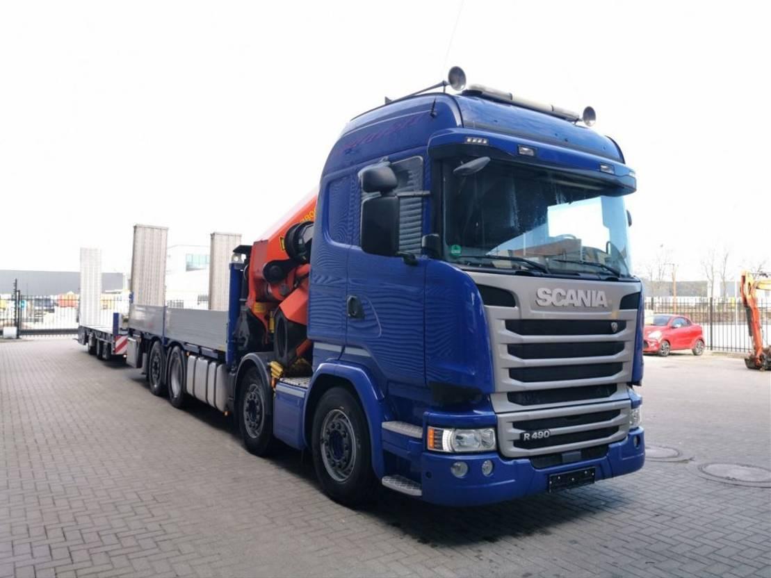 autotransporter vrachtwagen Scania R490 8x2 Euro 6 Palfinger PK 78002SH 8 x Hydr. + FSN SDA 2-PL-21 2016