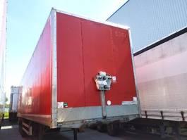 gesloten opbouw oplegger Samro Semitrailer Dryfreight box Roldeur Hydr. laadklep 2012