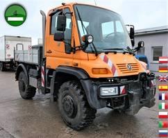 kipper vrachtwagen > 7.5 t Unimog U 400 405/12 AHK KLIMA SFZ KOMMUNALHYDRAULIK 2009
