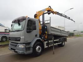 kipper vrachtwagen > 7.5 t DAF 55 LF 220 / EURO 5 / EFFER 115 CRANE / LIER / WINCH / LOW KM / KEURING / TUV !! 2009