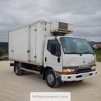 koelwagen vrachtwagen Mitsubishi Canter FE659 3.9 TD 4D34 7.5 ton manual pump left hand drive. 2000