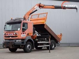 kipper vrachtwagen > 7.5 t Renault Kerax 320 dci 4x4 - 14TM Kraan, Crane, Kran Crue - Kipper, Tipper, Benne 2006