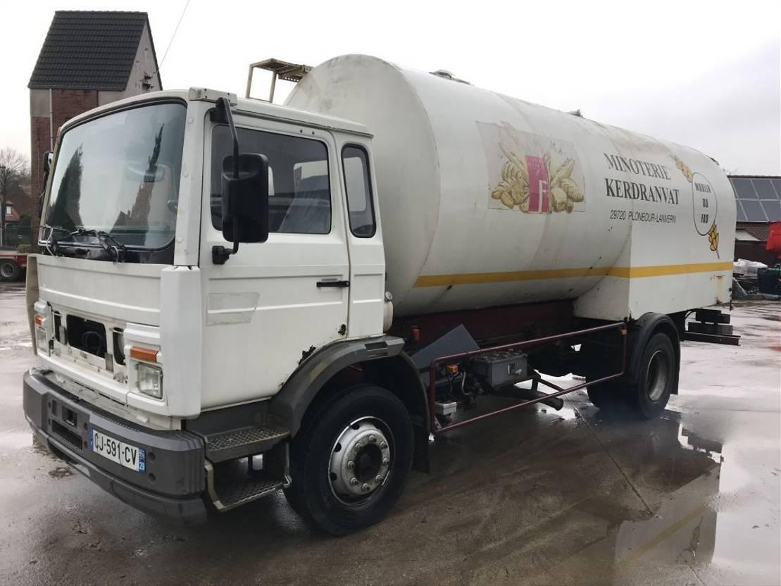 silo vrachtwagen Renault M180 **FULL STEEL-LAMES** 1990
