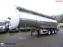 tankoplegger Feldbinder Chemical tank inox 37.5 m3 / 1 comp 1998