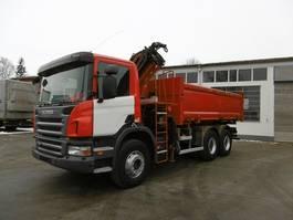 kipper vrachtwagen > 7.5 t Scania P380 Kipper 6x4 Bordmatik Kran Funk-FB 2011
