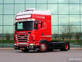 standaard trekker Scania R500-V8 4X2 TOPLINE  MANUAL GEARBOX RETARDER FULL AIR 2013