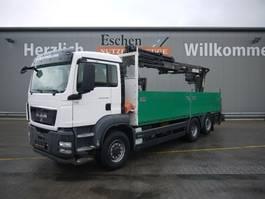 open laadbak vrachtwagen MAN TGS 26.320H BL,  6x4, Atlas 210.2 Kran 2011