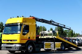 autotransporter vrachtwagen Renault Premium 250 250Top org 70000km Kran Schiebe-Plateau 2000