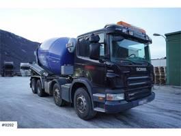 betonmixer vrachtwagen Scania P420 8x4 concrete truck w / hydr. drain 2008
