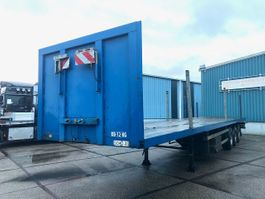 platte oplegger Bulthuis TI 27 13.60 HEAVY DUTY FLATBED (BPW AXLES / DRUM BRAKES / RONGHOLES IN F... 1990