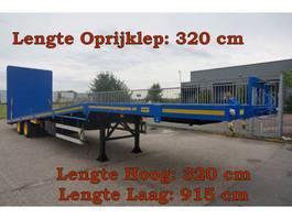 platte oplegger Broshuis E-2846 2 As Oplegger Dieplader Open, OX-23-49 1977