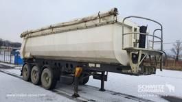 huifzeil oplegger Fliegl Semitrailer Tipper Steel-square sided body 28m³ 2007