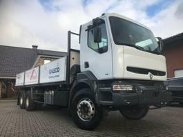 platform vrachtwagen Renault Kerax 300 , Full Steel, 6x4, Pritsche, 250,000km 2001