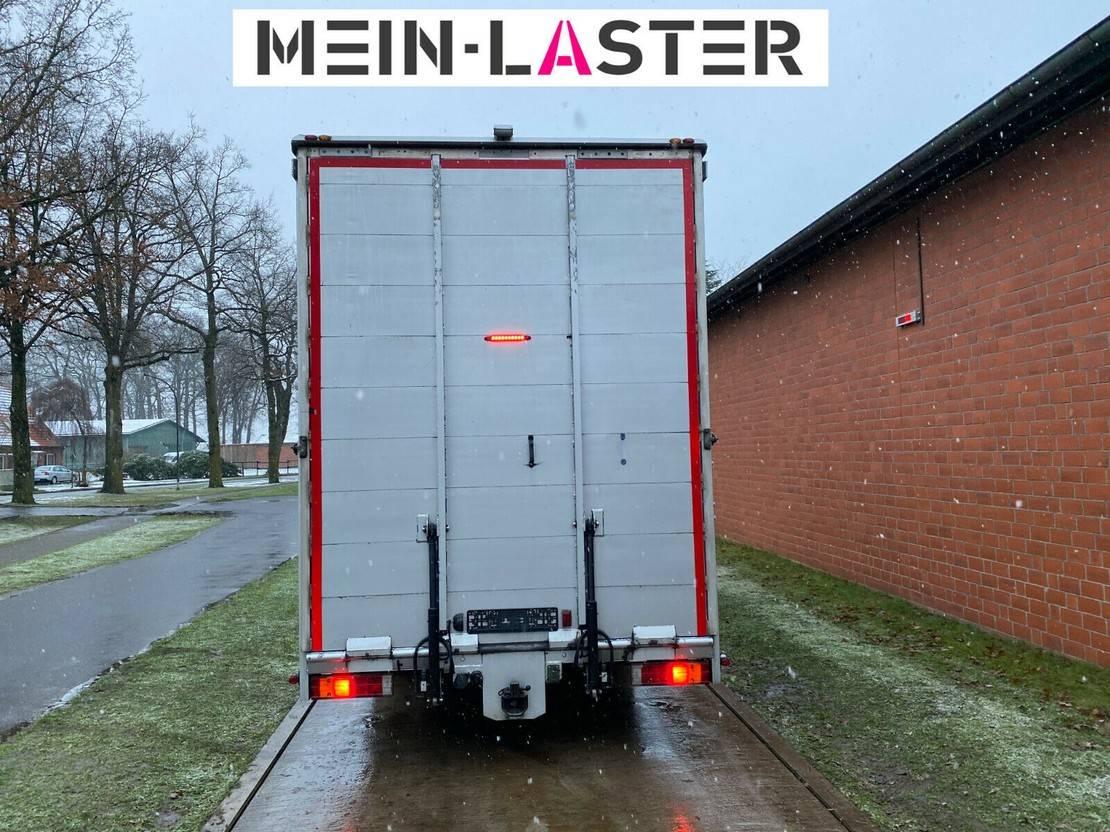 autotransporter vrachtwagen Mercedes-Benz 922 geschlossener Koffer Techau Seilwinde FB 2010