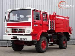 brandweerwagen vrachtwagen Renault M180 Midliner 4x4 - 3.600 ltr watertank - feuerwehr - fire brigade - bra... 1995