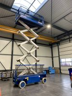 schaarhoogwerker wiel Holland Lift schaarhoogwerker, Monostar X-105EL16, 360 uren, werkhoogte 12.5 meter, uitschuifbaar werkplatform, 2WS 2003