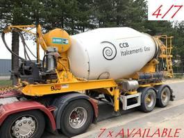 betonmixer oplegger MOL 7x  MOL (4/7) LT AUTOMIX AM 10m³ - BELGISCHE PAPIEREN / PAPIERS BELGES - 2 AS BPW - LUCHTVERING - IMER AUTOMIX 2009