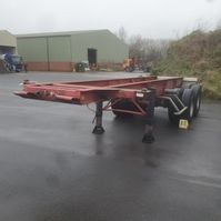 container chassis oplegger Trailor containerchassis 1984