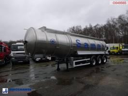 tankoplegger Magyar Fuel tank inox 37.8 m3 / 7 comp / ADR 08/2021 1996