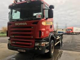 containersysteem vrachtwagen Scania R500 Rautajousinen koukkuauto 2008