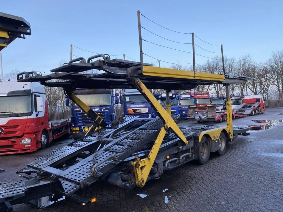 autotransporter vrachtwagen DAF CF 75.360 4X2 EURO 5 + GROENEWOLD 2 AS AANHANGWAGEN 2010