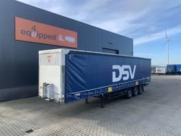 schuifzeil oplegger Schmitz Cargobull discbrakes, galvanized, timberstakes, NL-trailer, APK: 09/2021, Huckepack 2011