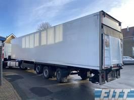 gesloten opbouw oplegger Schmitz Cargobull 3ass gestuurde geisoleerde oplegger met 3T achterklep 2013