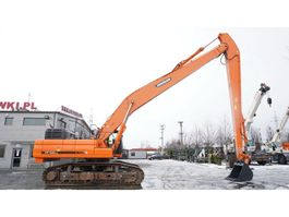 rupsgraafmachine Doosan DX490LC-3 , 50t , LONG Reach 20m + digging boom , tracks 60cm , 2014