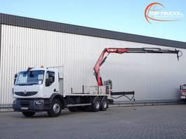 platform vrachtwagen Renault Premium Lander 26 410 DXI 6x4 17TM Kraan, Crane, Kran, Crue 2008