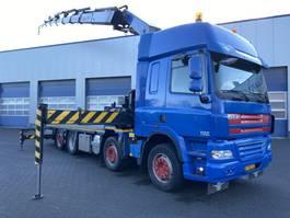 open laadbak vrachtwagen DAF CF 85.410 8x2, Palfinger 42502 (6 + 2), Retarder, Euro 5 2008