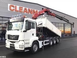 kipper vrachtwagen > 7.5 t MAN TGS 35.440 8x4 HMF 20 ton/meter laadkraan 2011
