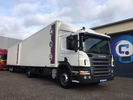 bakwagen vrachtwagen Scania P280 DB4X2MNA Euro 5 Bakwagen combi + Spier middenas aanhangwagen NL-Truck!! 2009