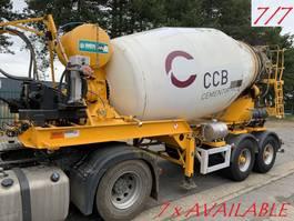 betonmixer oplegger MOL 7x  MOL (7/7) LT AUTOMIX AM 10m³ - BELGISCHE PAPIEREN / PAPIERS BELGES - 2 AS BPW - LUCHTVERING - IMER AUTOMIX 2009