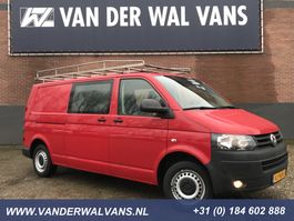 gesloten bestelwagen Volkswagen Transporter 2.0TDI 140pk L2H1 Dubbele cabine | Airco Cruise Imperiaal Trap Trekhaak 2014