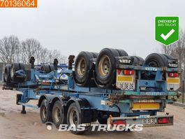 container chassis oplegger ASCA S322D1 2 axles Package of 3! Steel Suspension 2005